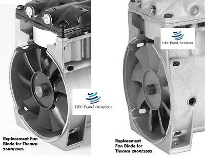 Fan Blades Replacement Cooling Fans for Thomas Compressor model 2660/2685 1 set!