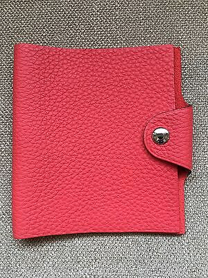 Authentic Hermes Ulysse Mini Notebook Cover in Bougainvillea