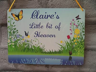 Personalised Garden Sign Metal Weatherproof Plaque Name of Choice
