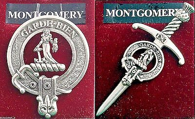 Montgomery Scottish Clan Crest Badge or Kilt Pin Ships free in US