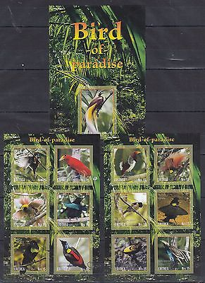 Nature Birds Bird of Paradise Imperf Nice set  (pr.issue) FGG
