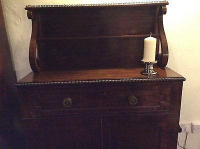 Antique Regency Flame Mahogany Chiffonier
