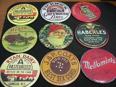Vintage Lot Of Advertising Pocket Mirrors Lot Of 9