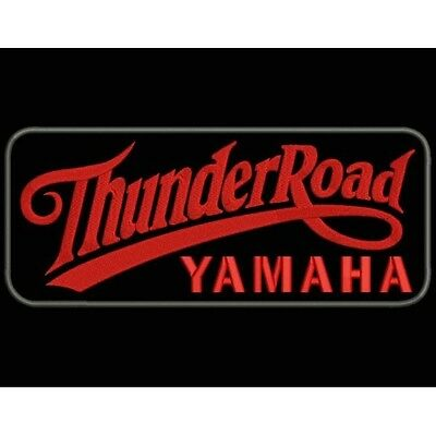 Iron Patch bestickt Patch zona ricamata parche bordado THUNDER ROAD YAMAHA