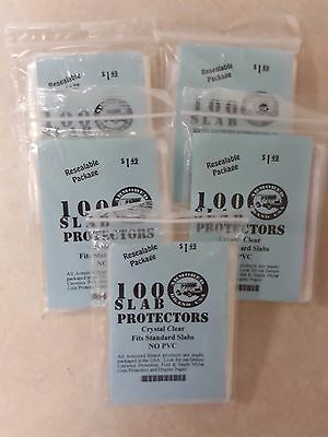 """500 Armored Graded Coin Slab Protector Bags for PCGS and NGC (2 5/8"""" X 3 5/8"""")"""