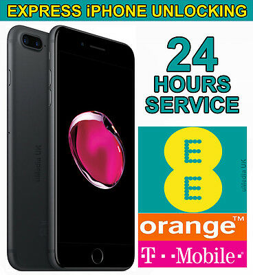 Official Factory Unlocking Service Apple iPhone 7 Plus For UK EE Network - 24Hrs