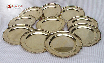 Georgian Vermeil Sterling Silver Chargers Set of 10 London 1821