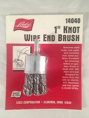 """Lisle 1"""" Wire End .020 Wire Knotted Cup Brush 14040"""
