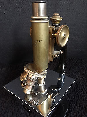 C. Reichert Wien Antique Microscope No. 68413
