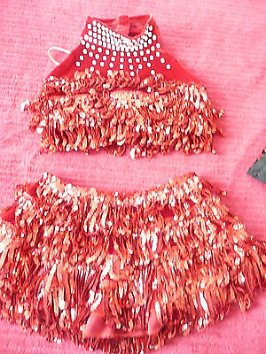 Custom made dance competition costume..2 pc red