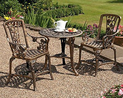 Garden Patio Set Bistro Dining Table and Chairs Garden Furniture Outdoor Vintage