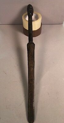 African Ethnographic Wood Tribal Sword Stick Ex Merton Simpson