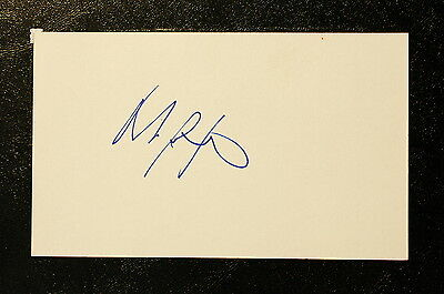 Marc Bergevin Index Card Hand Autographed