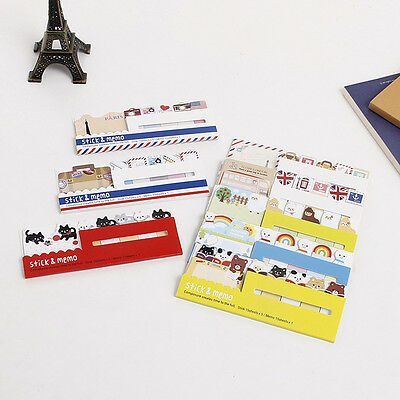 Animal London Travel Schedule Marker Self-Adhesive Memo Pad Sticky Note Post