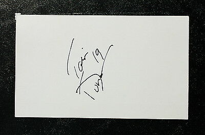 Ian Duncan Index Card Hand Autographed