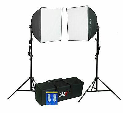 2x200W Continuous Studio Video Stand Softbox Lighting Kit Photography Video