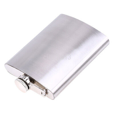 Stainless Steel Whiskey Alcohol Liquor Hip Flask 8 10oz Pocket Wine Bottle CA