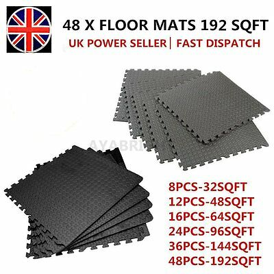 48-192Sq Ft Interlocking Eva Foam Mats Tiles Gym Plmp Garage Workshop Floor Mat
