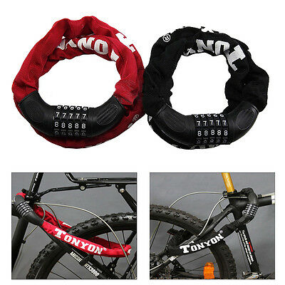 Bicycle Motorcycle Anti-Theft 5 Digit Combination Password Security Chain Lock