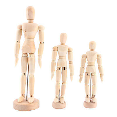 1PC Artist Movable Limbs Male Wooden Model Art Sketch Draw Action Toys Figures