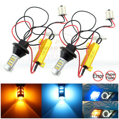 2x 30W Samsung 1156 No Resistor Required LED Turn Signals fix hyper flash Red