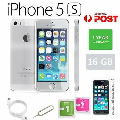 Apple iPhone 5s 16GB Factory Unlocked SIM Free Smartphone Mobile - Silver AU