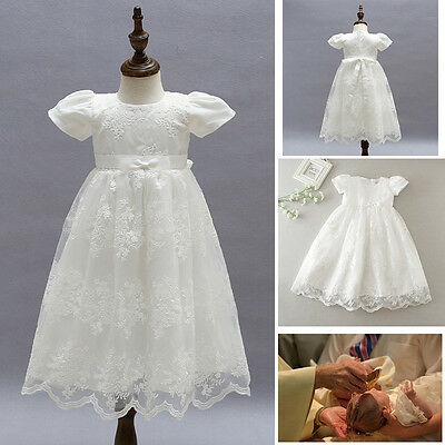Hot Sale Baby Girl Baptism Christening Gown Birthday Party Formal Princess Dress