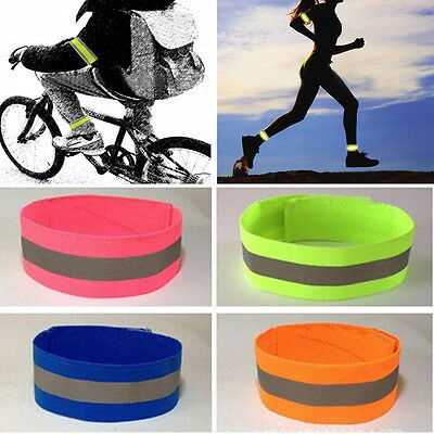 Reflective Safety Arm Band Belt Strap For Outdoor Sports Night Running Biking UK