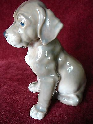 Dahl Jensen Porcelain Dog  #1255 Broholm Puppy (Bird Dog) 17 cm high
