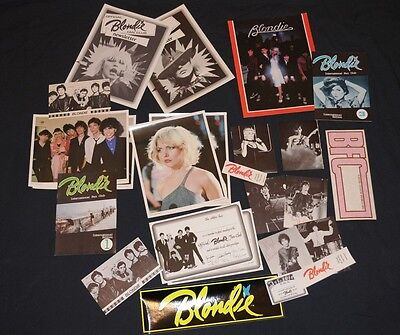 Rare 1979 Official Blondie Fan Club 24 items Debbie Harry Collectors lot Deborah