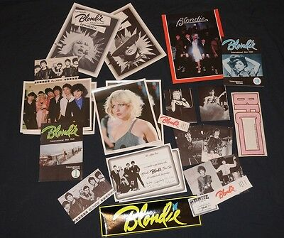 Rare 1979 Official Blondie Fan Pack Debbie Harry 24 items Collectors lot Deborah