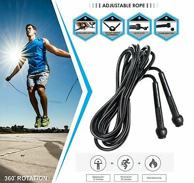 Leather Skipping Speed Rope/Gloves Fitness Boxing Fast Jump Gym Training Set