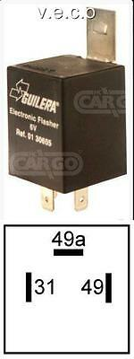160651 6 Volt 6V Relay Flasher Unit With Bracket 3 Terminals Car Motorcycle