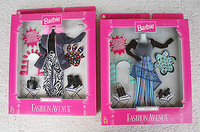 2 Fashion Avenue Clothes (Barbie Doll, 20642): City Series, 1999! Brand New, Os!