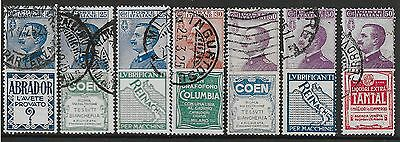 Italy stamps 1924 Publicity stamp Sassone 4+5+7+9+10+14+18  CANC  VF