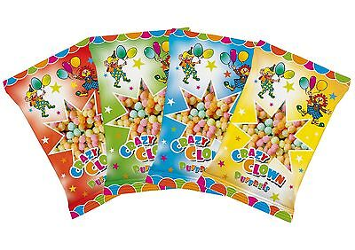 60 XL Beutel Clown Puffreis !  18 x 9 cm Beutel Top Giveaway Party Geburtstag