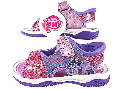 Girls My Little Pony  twilight Surf Beach Sandals Summer Trainer Shoes PinkLilac