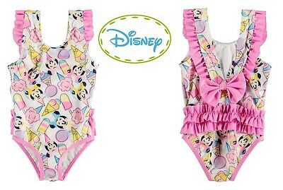 DISNEY BABY MINNIE MOUSE Girls Swimsuit Sun Suit Swimming Costume Bathers UV50+