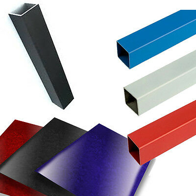 Aluminium Square Tube Metal Bar Alloy Box Section Metal Tube 4 Colours Available