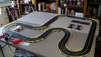 Artin/Revell  BURNING RUBBER Race Way 1/43 Scale Slot Car Track All New 4 Cars