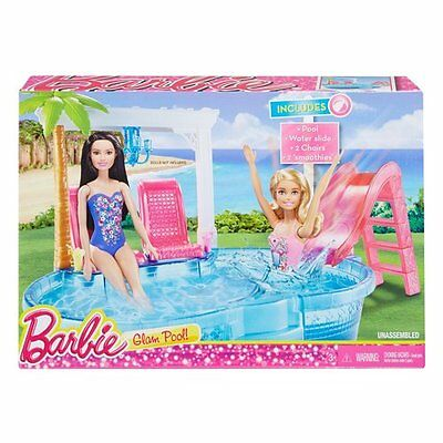 Gioco Piscina Glam Di Barbie Playset Pool Mattel