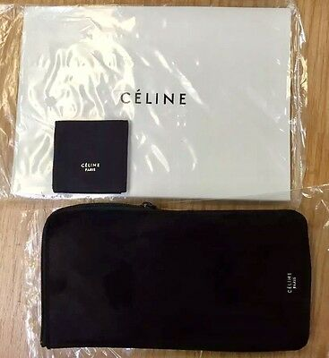 CELINE Sunglass Eyeglass Suede Case/Pouch W/Cloth & Gift Bag 100% AUTHENTIC NEW