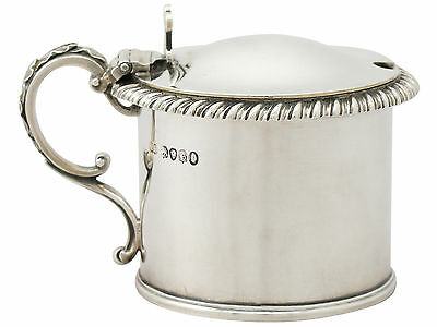 Sterling Silver Mustard Pot by John Wilmin Figg Antique William IV
