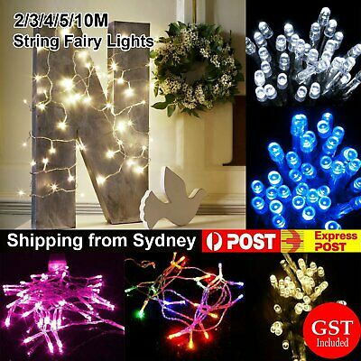 2/3/4/5/10m Battery Powered Operated String Fairy Lights Party Wedding Christmas