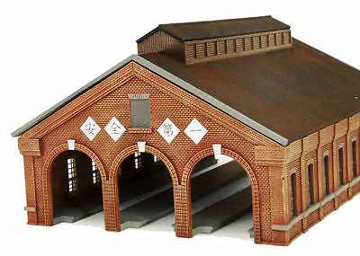 Tomytec Model Train station Building 3 Track Brick Engine House 1/150 N scale