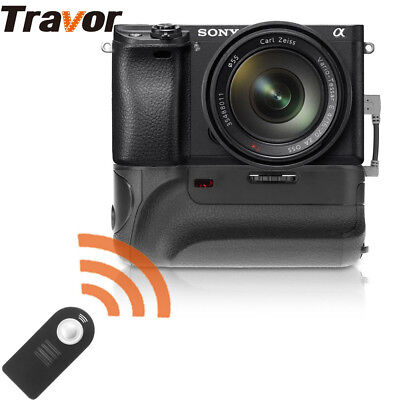 Battery Grip Sony A6000 A6300 Mirrorless Camera+IR Remore Control