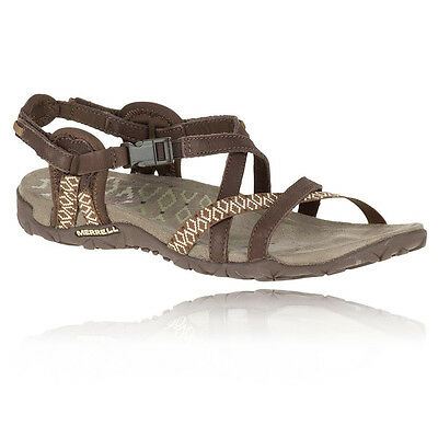 Merrell Terran Lattice II Womens Brown Walking Hiking Sandals Summer Shoes