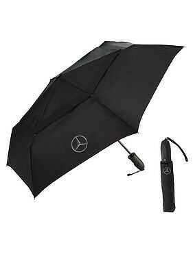 Mercedes Benz Star Compact Black Umbrella with Rubber Grip