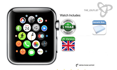 Apple Watch Series 1-38/42mm-Gold/RoseGold/SpaceGrey/Silver - Grade A-Excellent