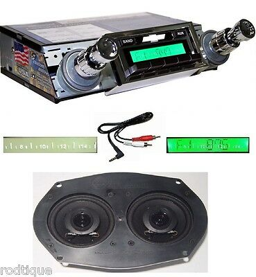 1961-1962 Impala & Bel Air Stereo Radio + Dash Speaker + Free AUX Cable 230D